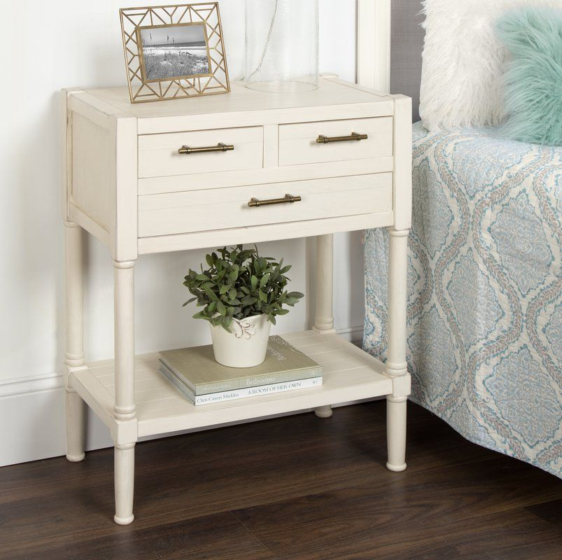 Caspian Nightstand 3 Drawer End Table With Images Nightstand Decor Bedroom End Tables End Tables