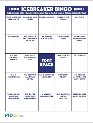 Icebreaker Bingo Card -- free printable. Can also change this to ...