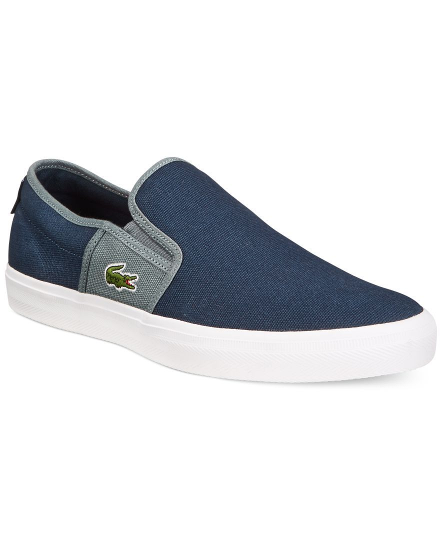 8a3f8bcc8ce0 Lacoste Gazon Slip-Ons