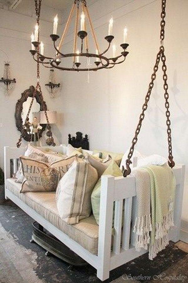 repurposed crib into porch swing, Creative Old Crib Repurpose Ideas ...