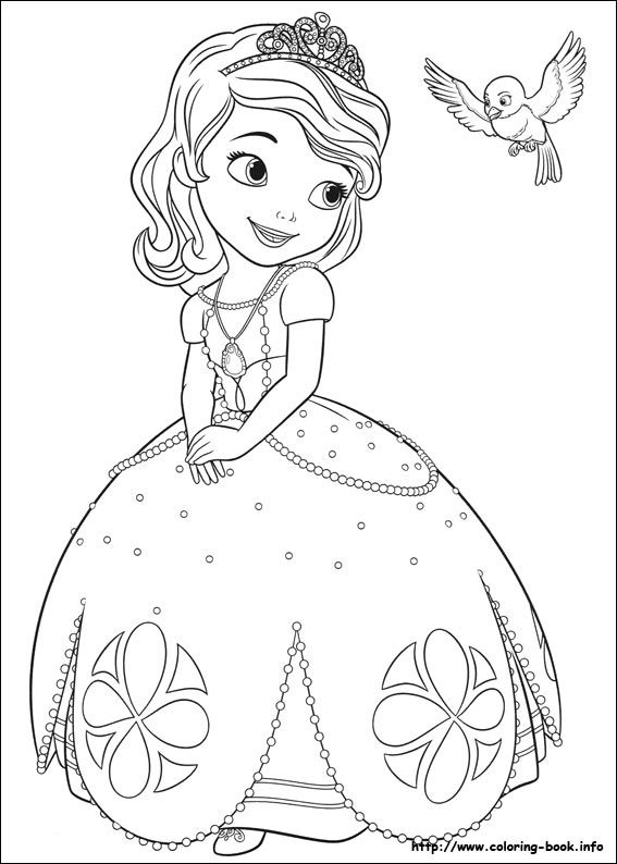 Free Printable Sofia The First Coloring Pages : printable, sofia, first, coloring, pages, Sofia, First, Coloring, Picture, Disney, Pages,, Princess, Pages