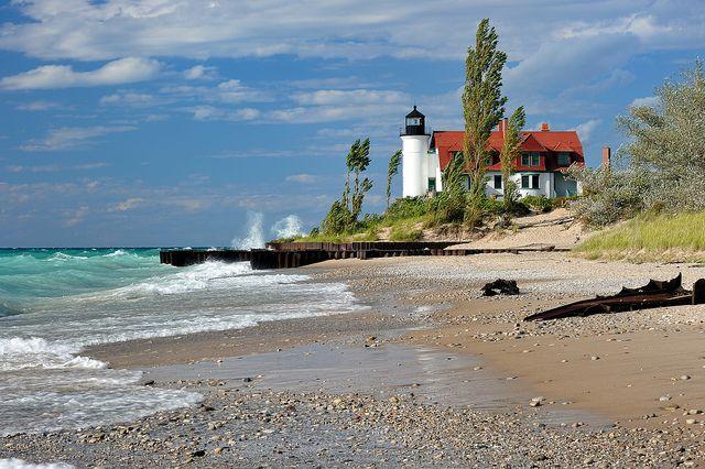 Point Betsie Lighthouse - Crystallia , Michigan by Michigan Nut, via Flickr