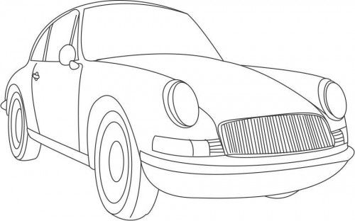 Printable Vintage Car Coloring Pages In 2020 Cars Coloring Pages