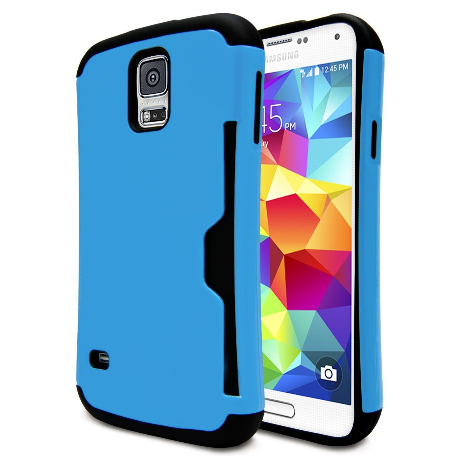 Galaxy S5 Case Wallet Case Ultimate Hybrid Armor Protective Galaxy S5 Slim Hard Shield Cover Build In Credit Card Slot Holder Galaxy S5 Case Samsung Galaxy S5