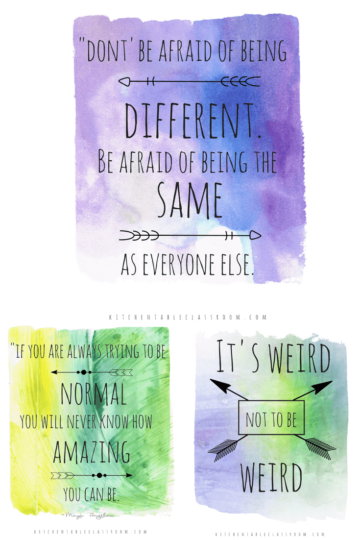 How to Be Weird and Different