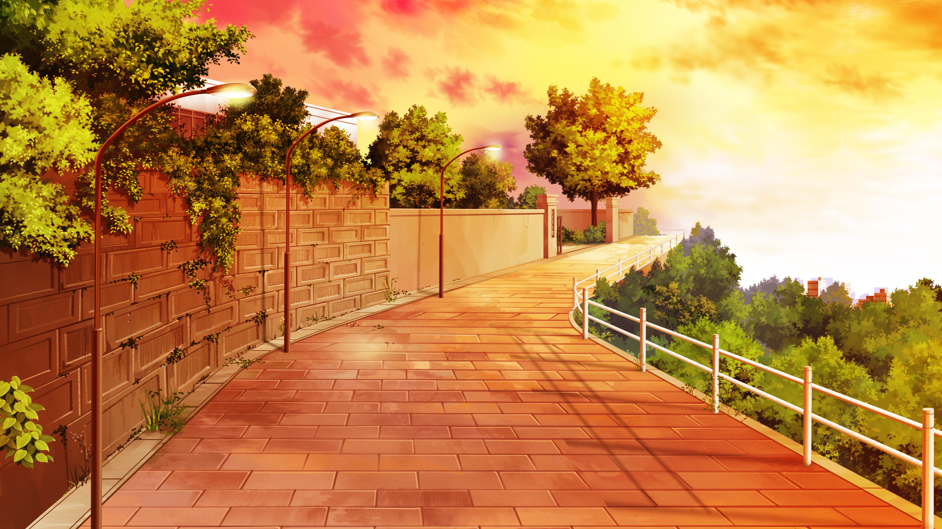 anime city scenery wallpaper widescreen 2 hd wallpapers | screen