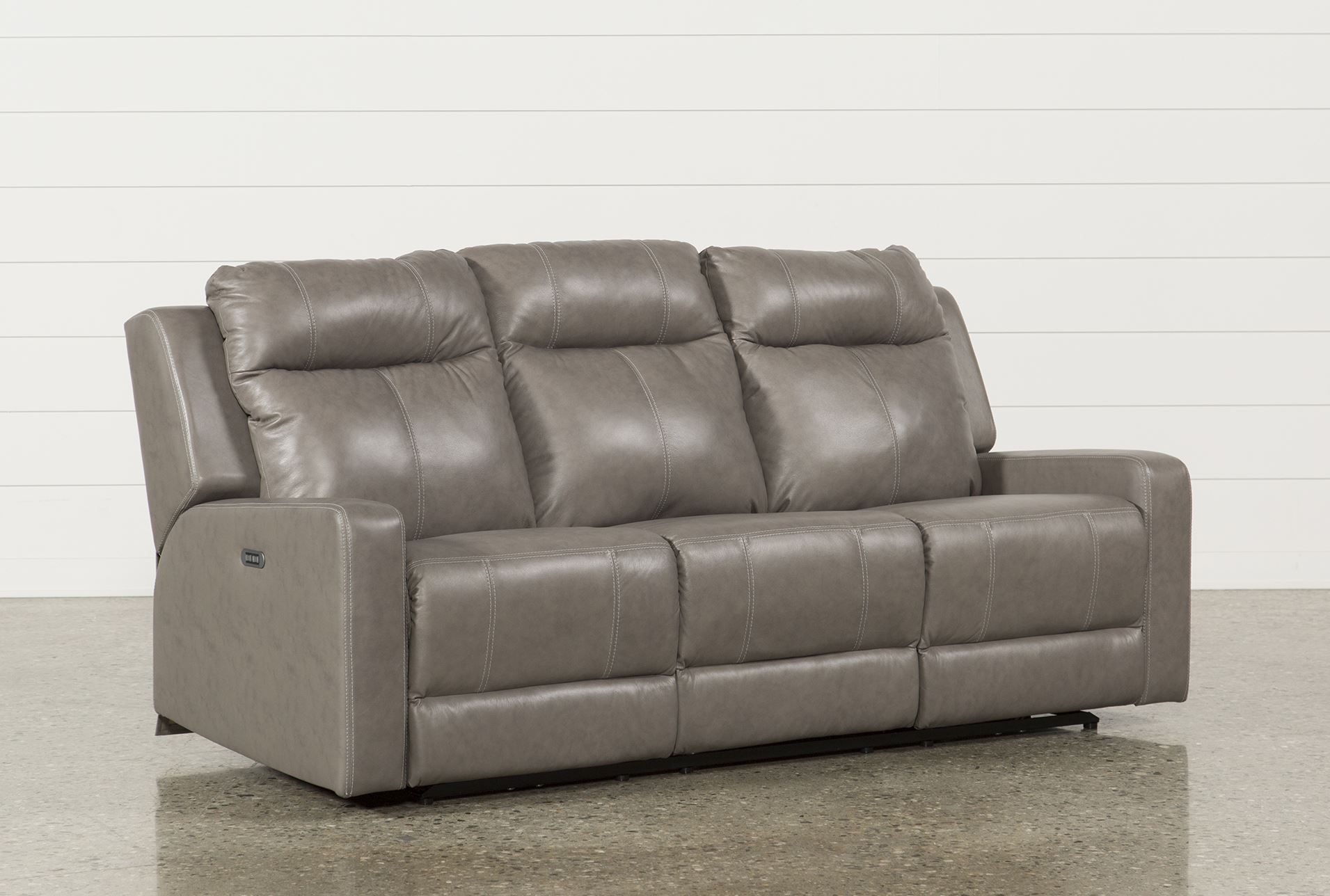 Sequoia Sable Dual Power Reclining Sofa W/Adjustable Headrest
