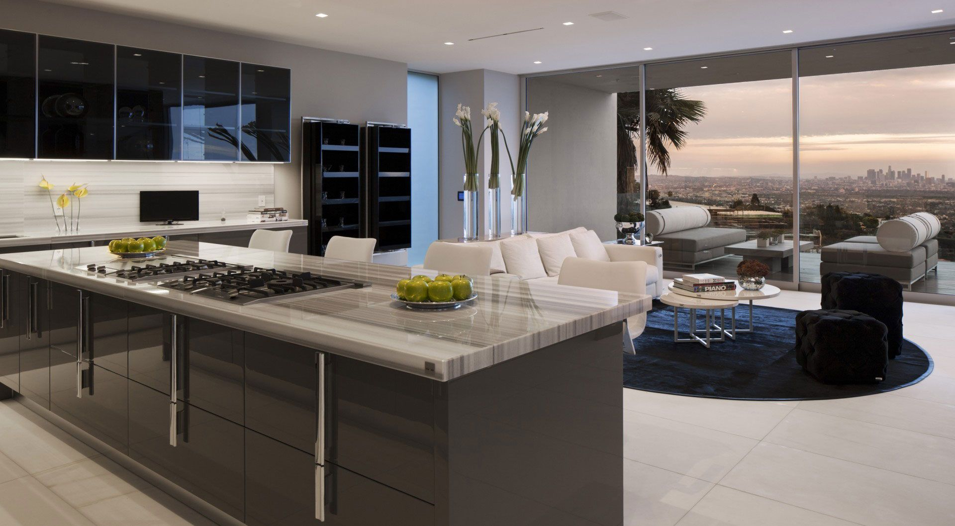 Luxury Modern Kitchens Grey Marble Or Granite Google Search Luxury Modern Kitchen Design