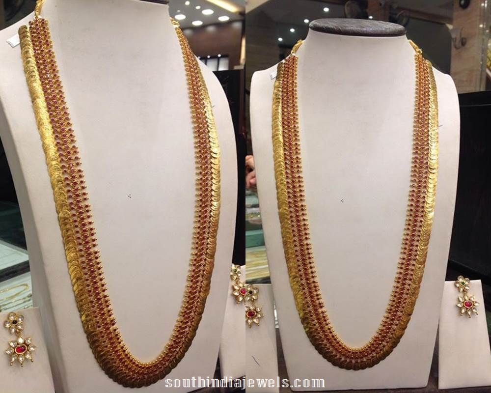 Gold long necklace design with price - Collection Of Latest Indian Jewellery Designs