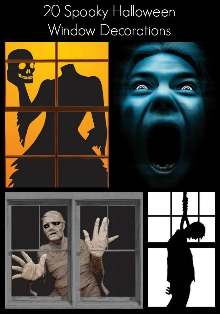 20 Spooky Halloween Window Decorations Halloween window - halloween window decorations