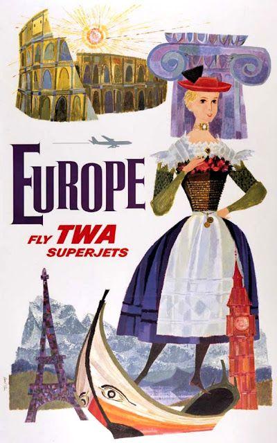 David Klein TWA Poster