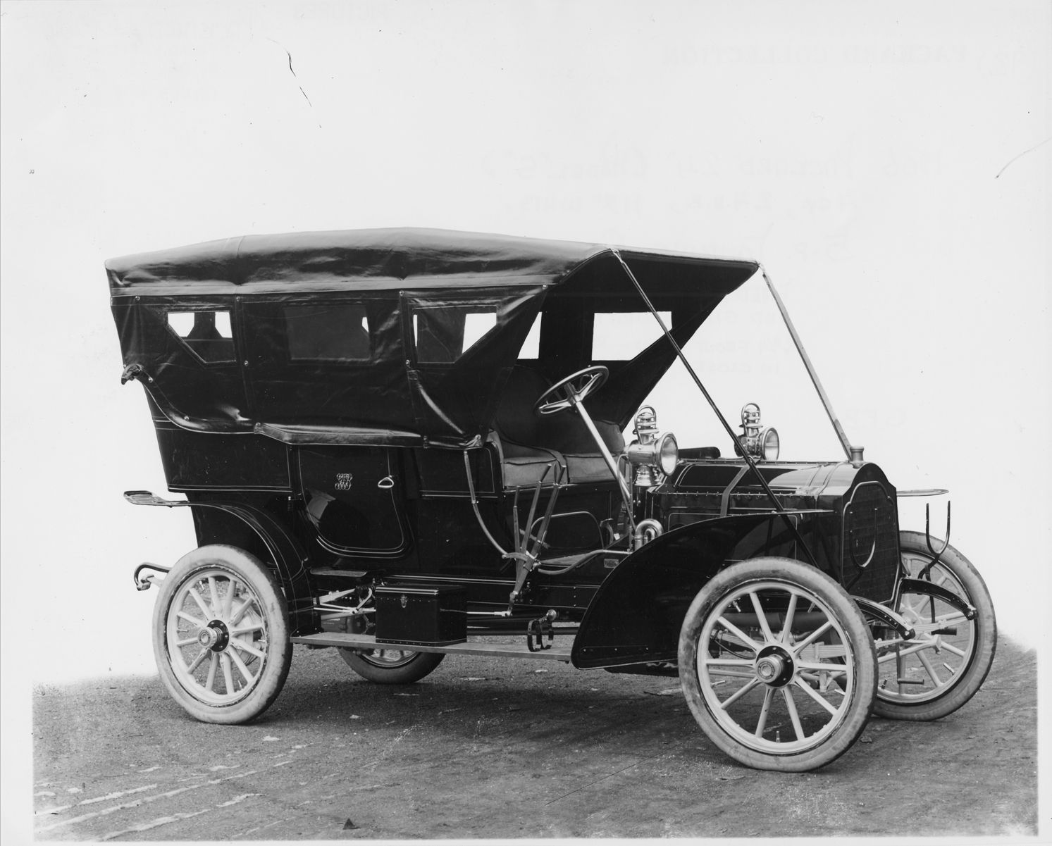 1906 Packard 24 Model S touring car with folding cape top-closed ...