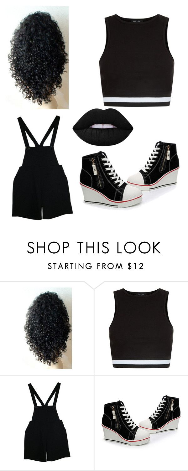 """Untitled #40"" by kwon-jaylin ❤ liked on Polyvore featuring New Look, American Apparel and Lime Crime"