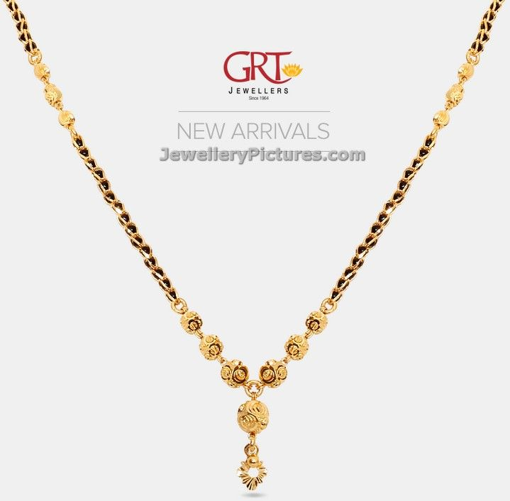 Beautiful Jewellery Collection Of Black Beads Gold Chain Designs Grt Jewels Latest Mang Gold Chain Design Black Beaded Jewelry Gold Jewellery Design Necklaces