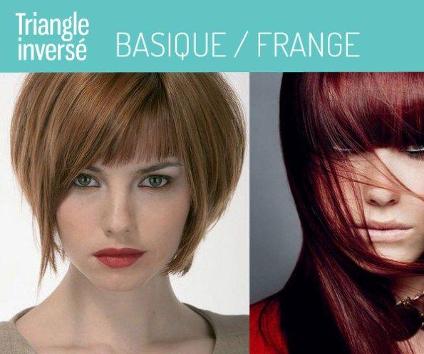 Visage Triangle inverse coupe et coiffure pour femme