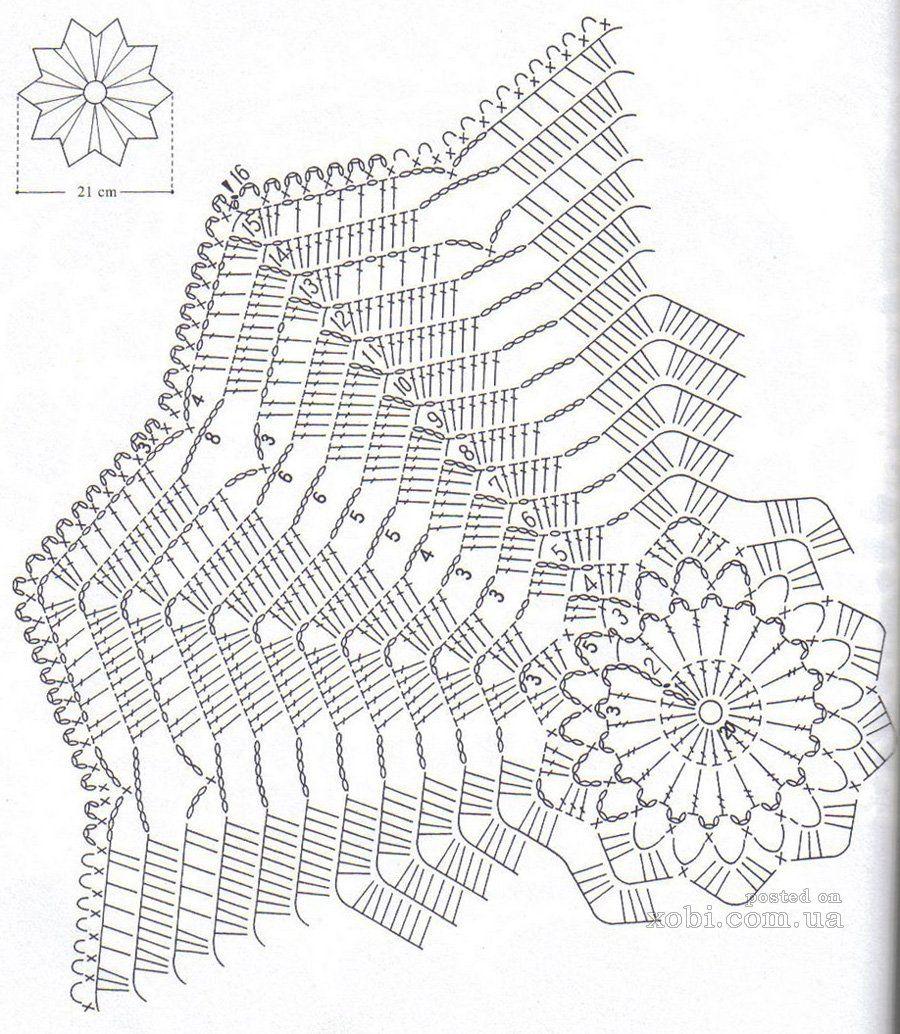 Doily 166 diagram | TEJIDO Y MÁS | Pinterest | Carpeta, Ganchillo y ...