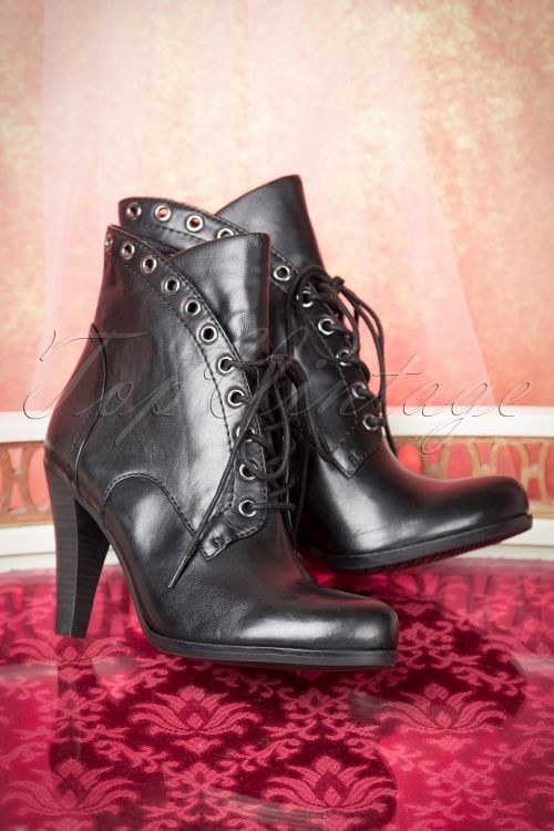 Tamaris Black Leather Boot 430 10 15070 08102015 22W
