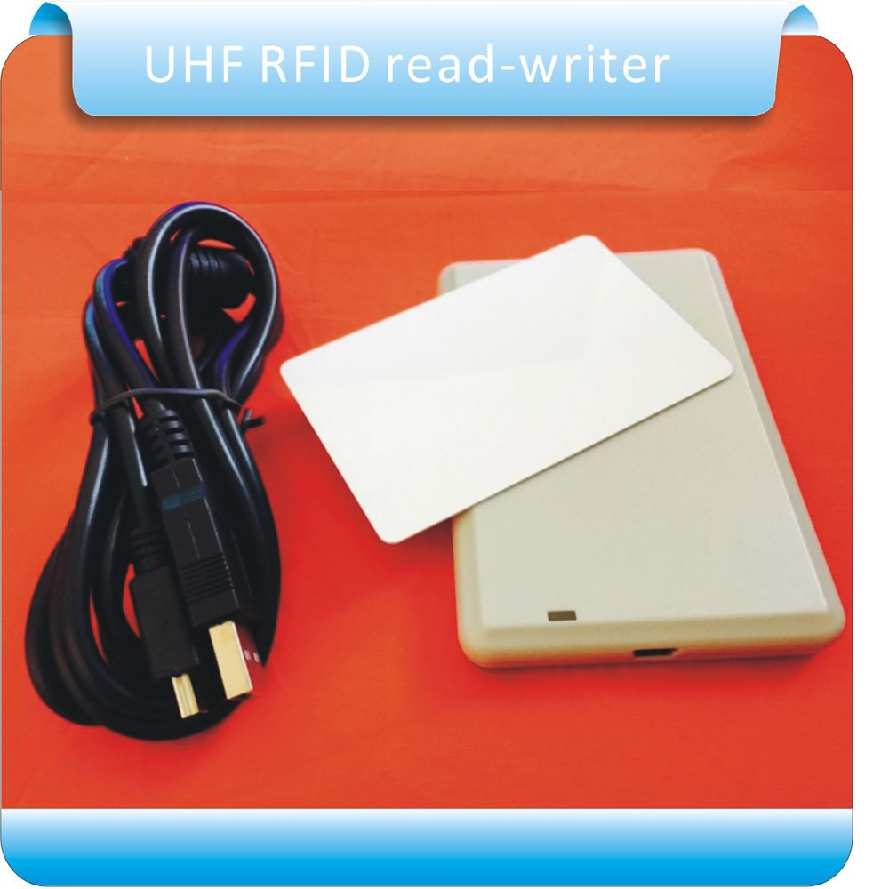 Free shipping usb rfid UHF desktop reader writer provide English SDK