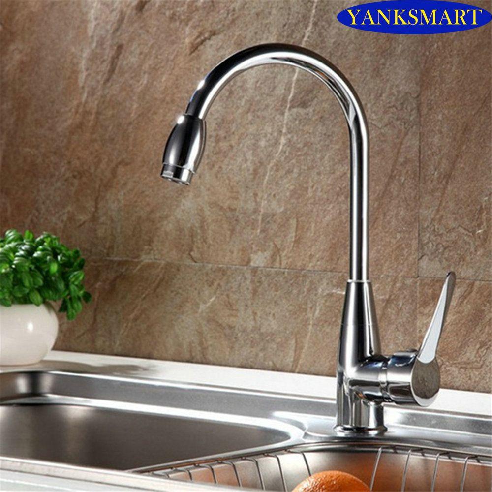 360 Swivel Kitchen Basin Sink Mixer Tap Fashionable Chrome Counter ...