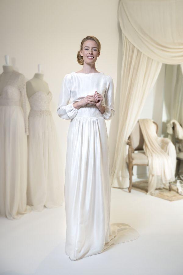 Leila Hafzi 2016 Bridal - Asha #tznius   Modest (tznius) Wedding ...