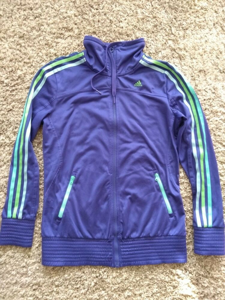 purple & black adidas sweatshirt