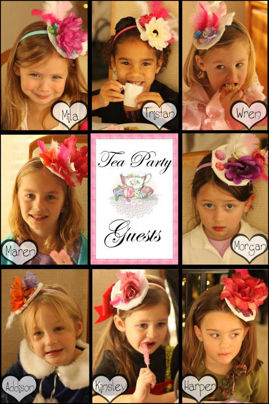 5e2aa5ca Tea Party- Each girl makes their very ownTea Party Fascinator Hat ...