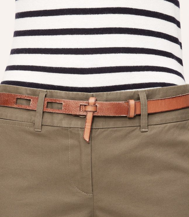 loft Cutout Leather Belt