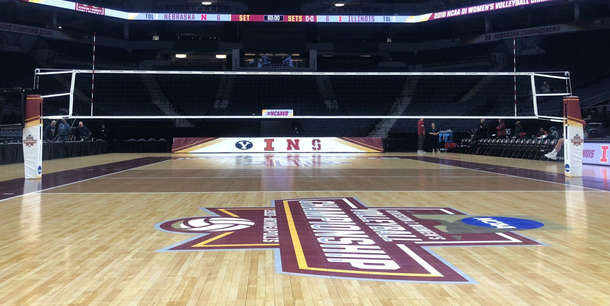 2018 Ncaa Volleyball Championship Volleyball Ncaa Basketball Court