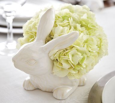 Painted Ceramic Bunny | I want to make that | Pinterest ...