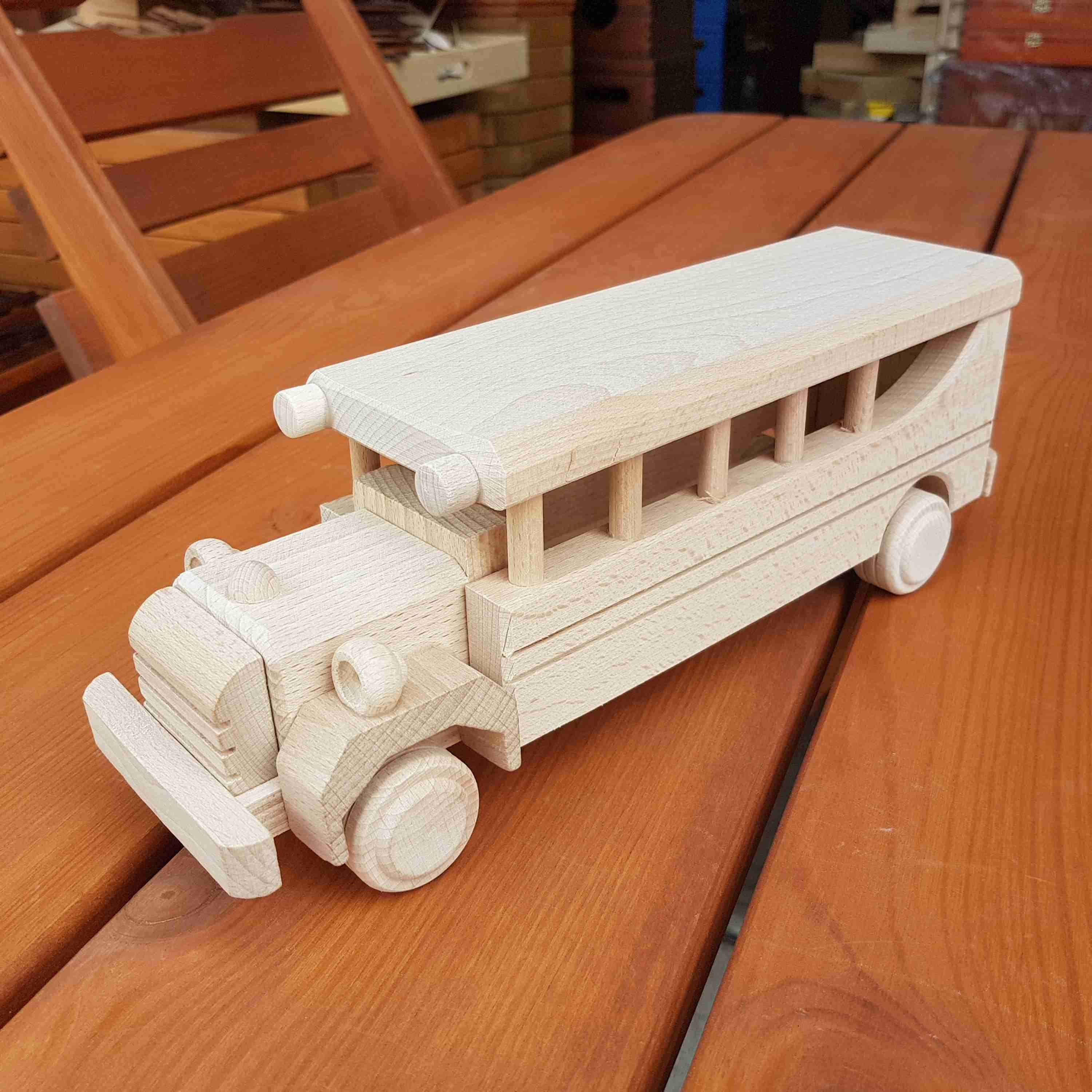 wooden toy bus made of beech wood | wooden toys | wooden
