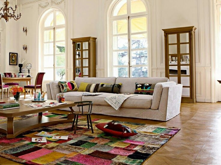 vision d co by sofia chez roche bobois tapis patchwork projets essayer pinterest tapis. Black Bedroom Furniture Sets. Home Design Ideas