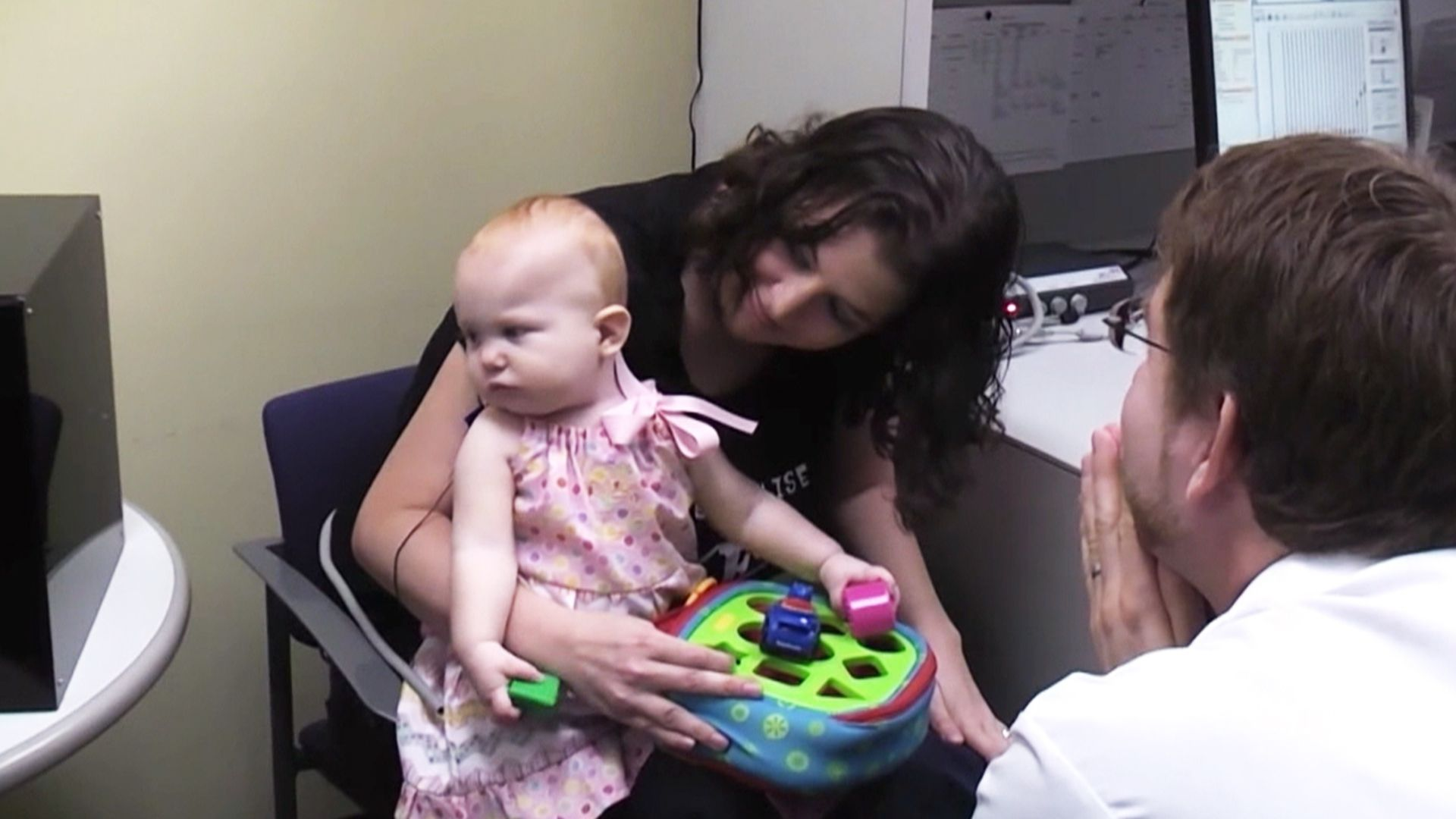 Brain implant allows baby girl, born deaf, to hear for the first time