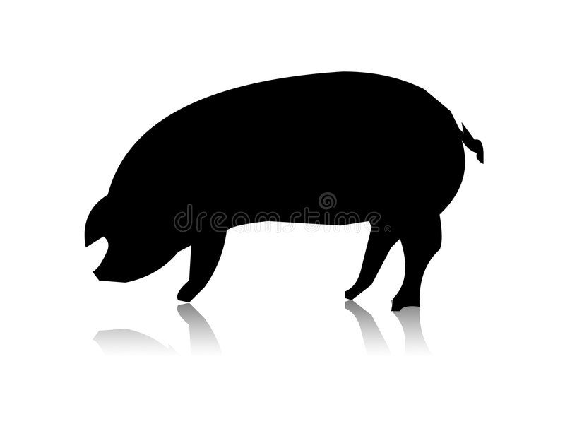 Pig Silhouette Pig Black Silhouette On The White Back Affiliate Silhouette Pig White Black Ad Pig Silhouette Black Silhouette Silhouette
