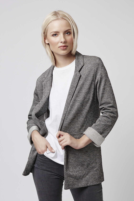 3b1dff1df55 Stripe Twill Utility Pocket Boyfriend Jacket - Topshop