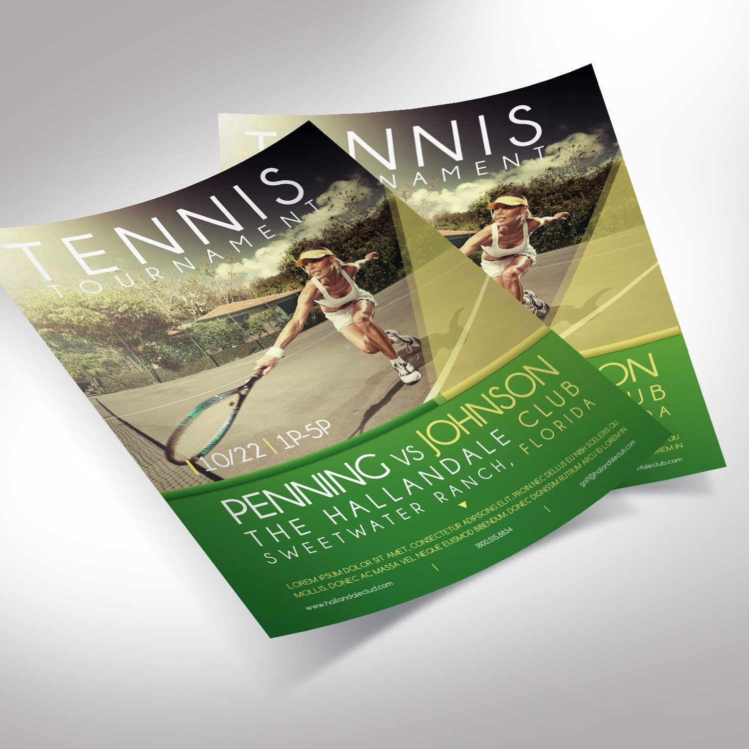 Golf Tournament Flyer Word Publisher Template - Editable