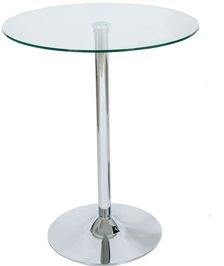 Poseur Tables, Exhibition, Tall Tables, Tall Glass Tables, Adjustable  Poseur Tables, Bar Tables   Wood, Glass Chrome