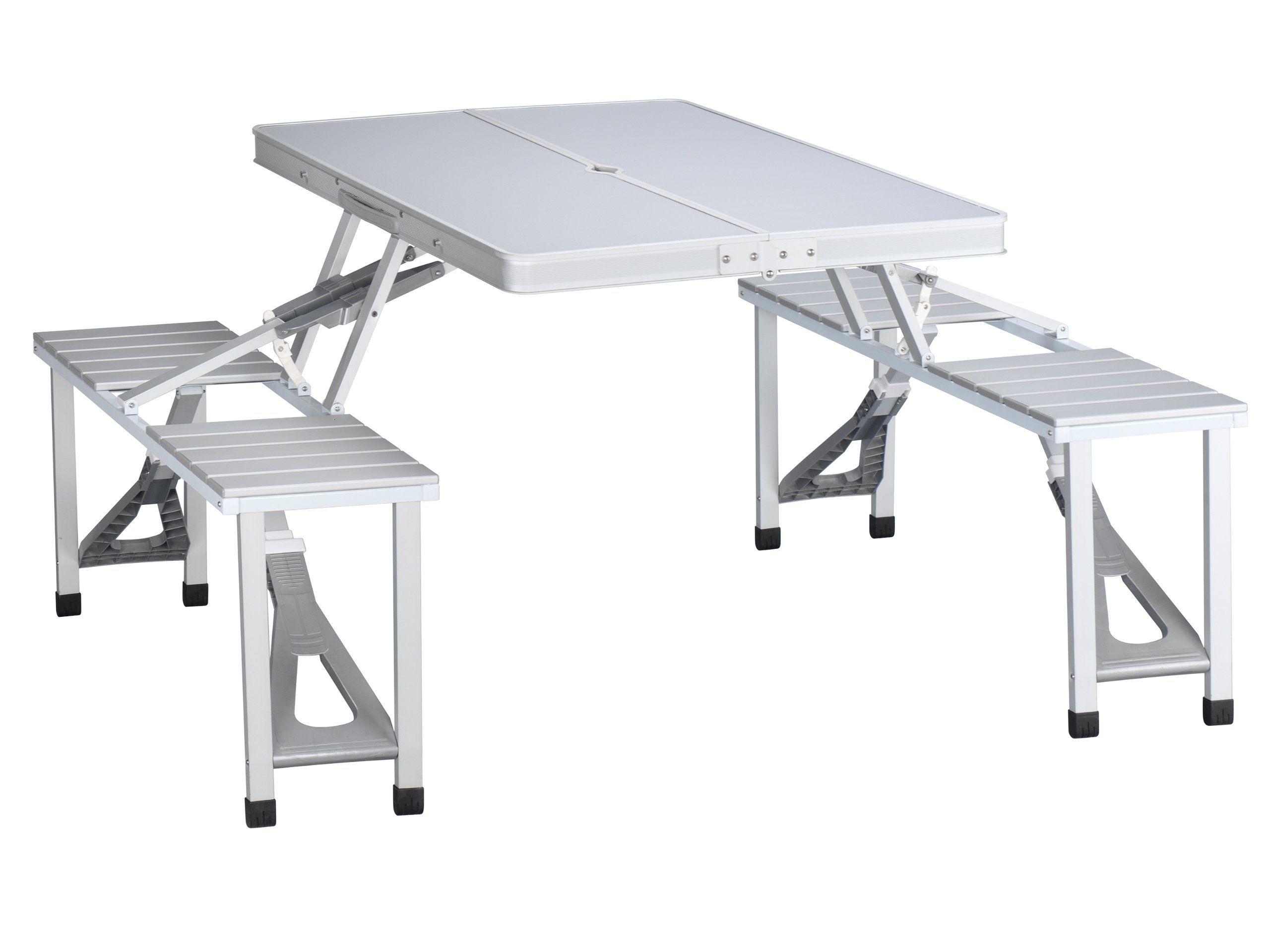 Tristar Table De Pique Nique Pliante Valise En Aluminium 4 Places