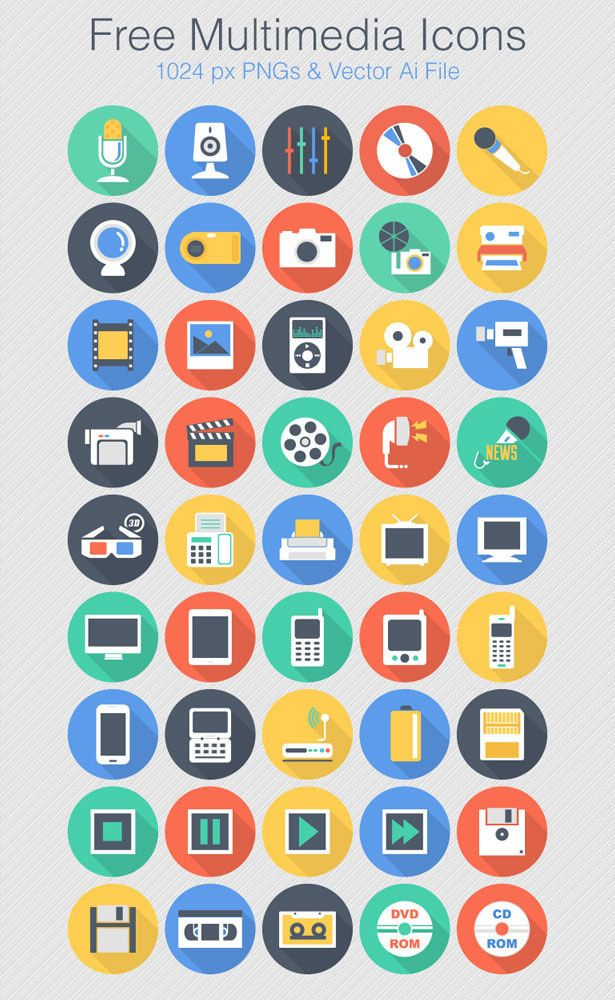 Free Flat Vector Multimedia Icon Astuces