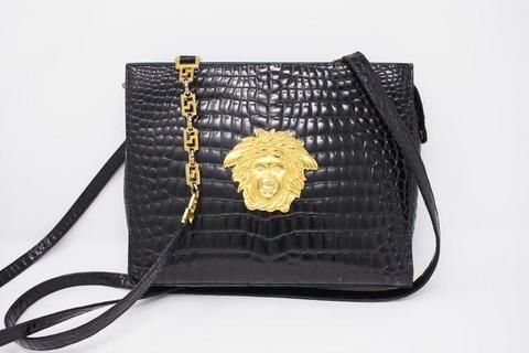 2d921cd9bb83ac Rare Vintage 1992 GIANNI VERSACE Bag at Rice and Beans Vintage ...