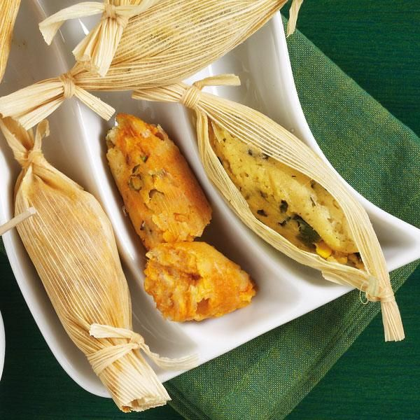 Mini Tamales The Meat Filling Is Mixed Right Into The Masa Mixture Which Really Speeds Up Preparation Of Appetizer Recipes Recipes Healthy Eating Inspiration