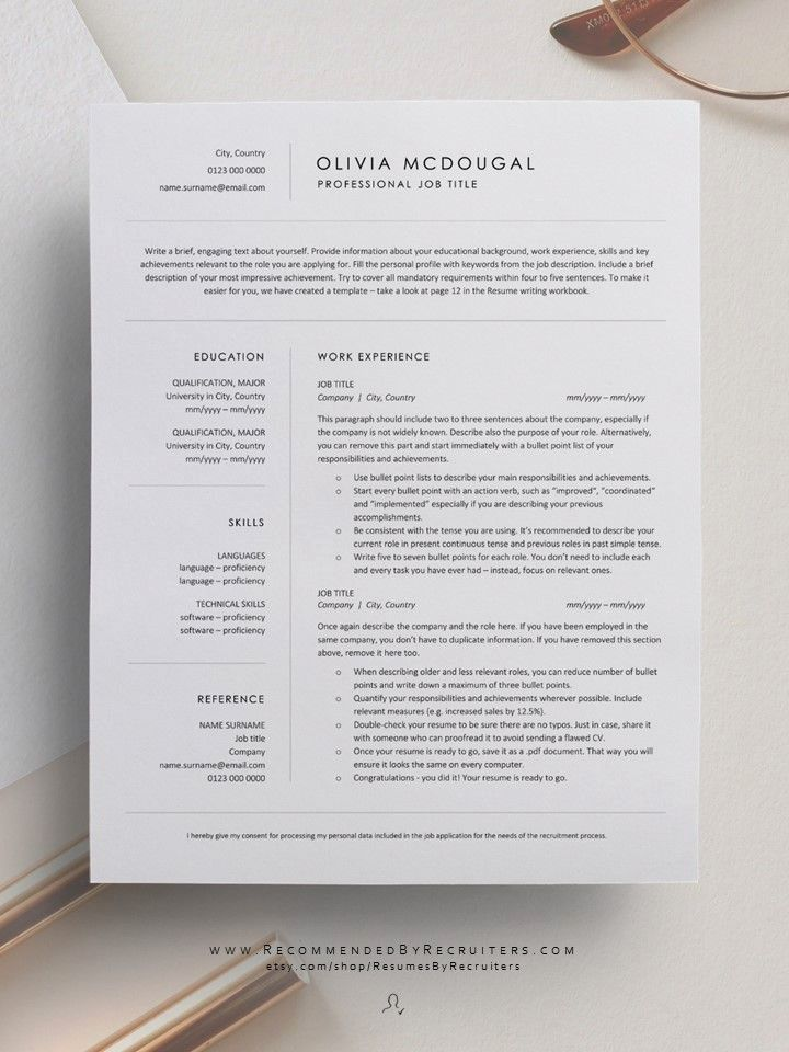 23 simple resume marketing design in 2020 minimalist