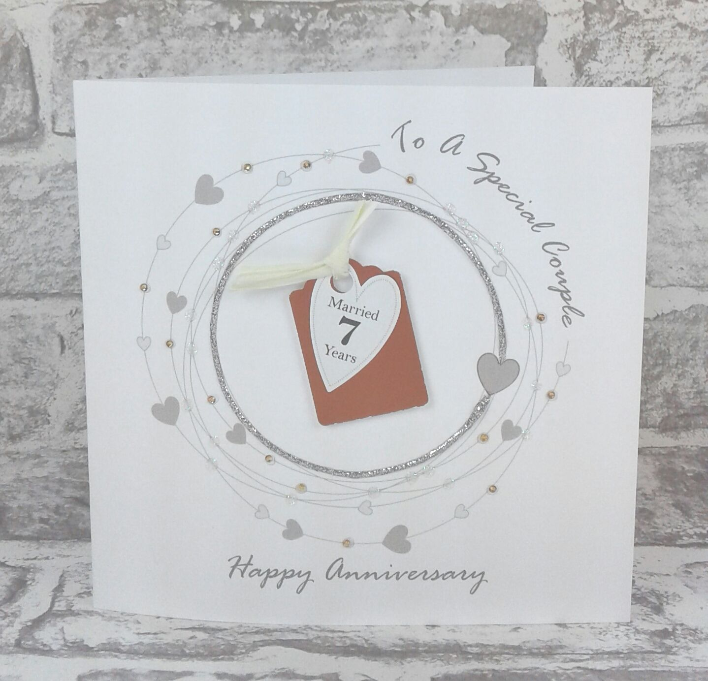 NEW** 7th Wedding Anniversary Card Copper Anniversary