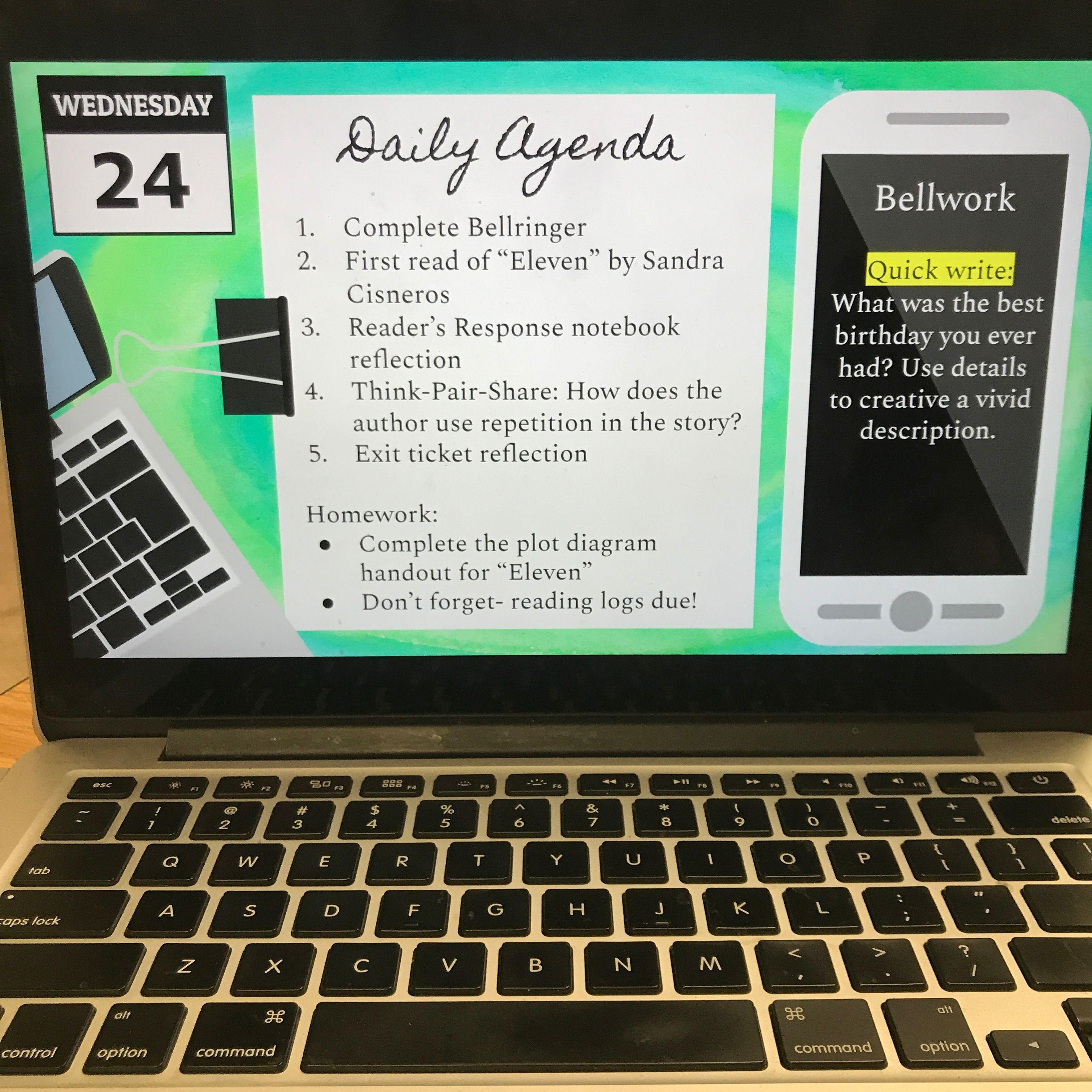 Daily Agenda Google Slides Set 2 High School Classroom