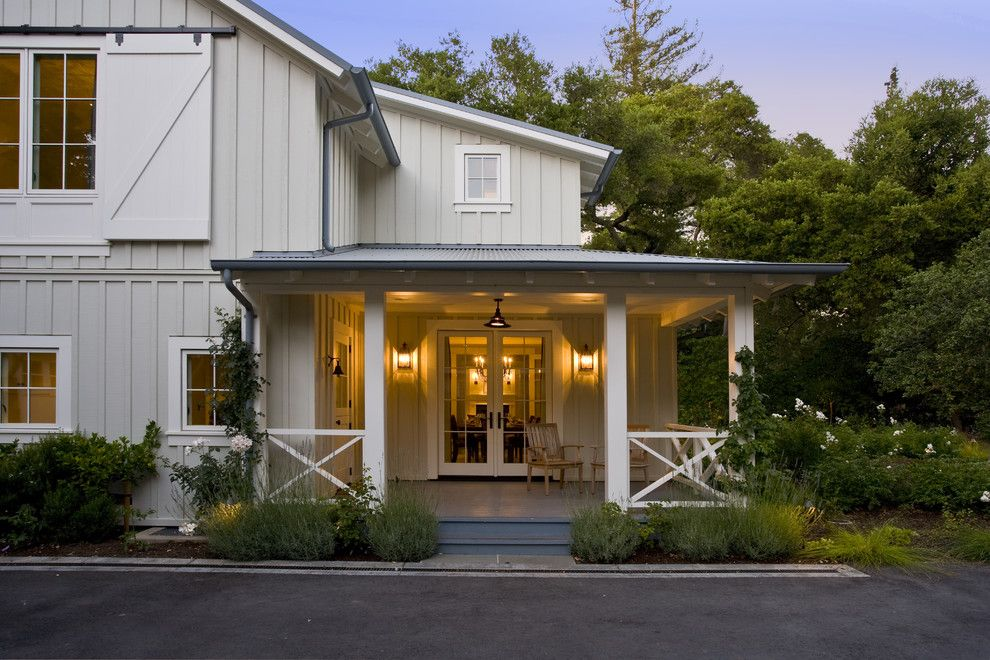 Menlo Oaks Residence traditional porch san francisco Arcanum