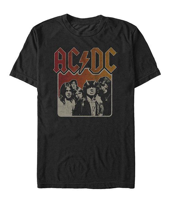 Black 'AC/DC' Tee - Men's Regular