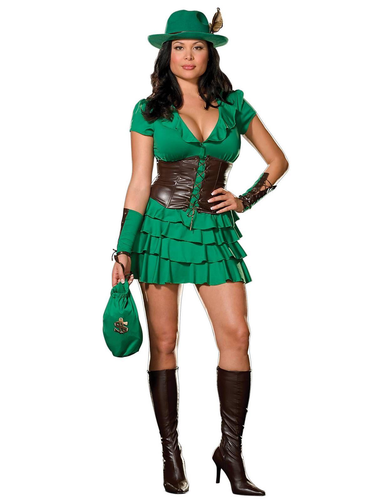 Dreamgirl Plus Size Robyn Da Hood Costume - Sexy Robin Hood - Candy Apple Costumes  sc 1 st  Pinterest & Robyn Da Hood Adult Costume | Plus Size Fairytale Costumes | Sexy ...