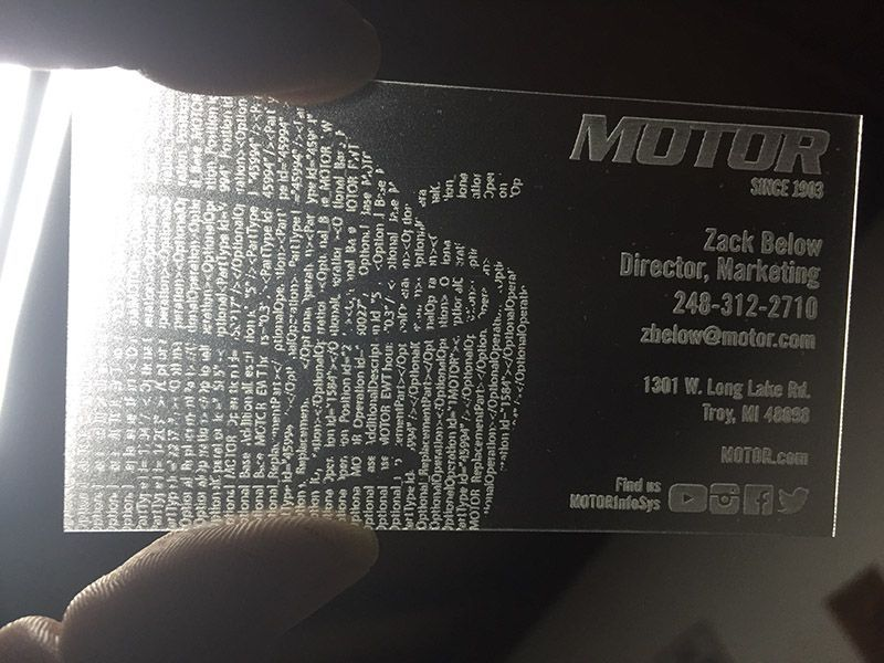 Really unique business card, great idea for a marketing piece. Clear ...