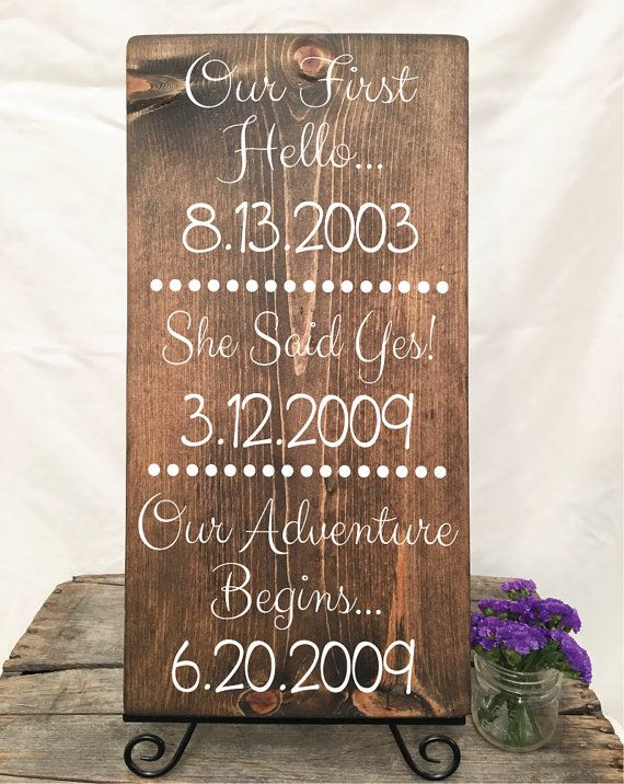 Love Story Timeline| Love Story Wedding | Engagement Gift | Our Adventure Begins | 12x23 Wood Sign