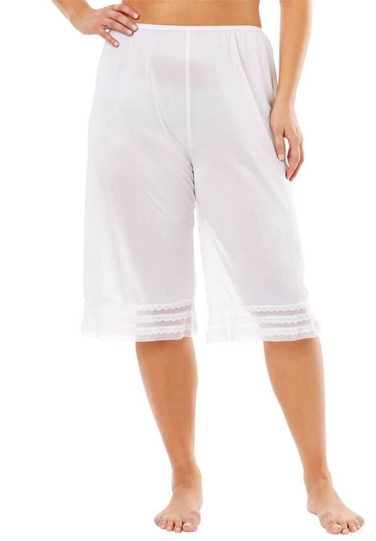 820e7909f4a71 Comfort Choice Womens Plus Size SnipToFit Culotte Underliner WhiteM   See  this excellent item. (This is an affiliate link ).  whitelingerie