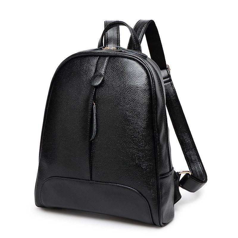 2016 new Korean female casual fashion minimalist shoulder bag lady backpack  College Wind women travel bagsdual 3838d35846f45